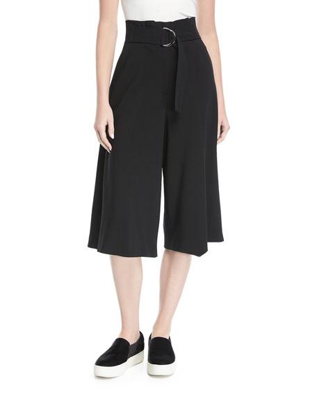 Jayden High-Waist Wide-Leg Crepe Pants