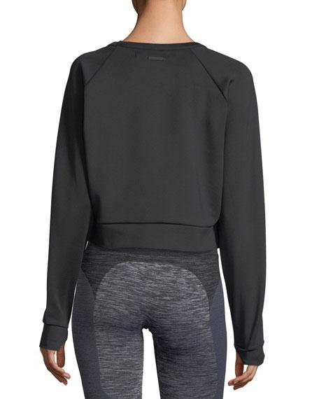 Crewneck Long-Sleeve Lounge Sweatshirt