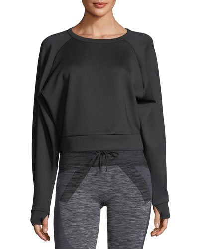 Crewneck Long-Sleeve Lounge Sweatshirt