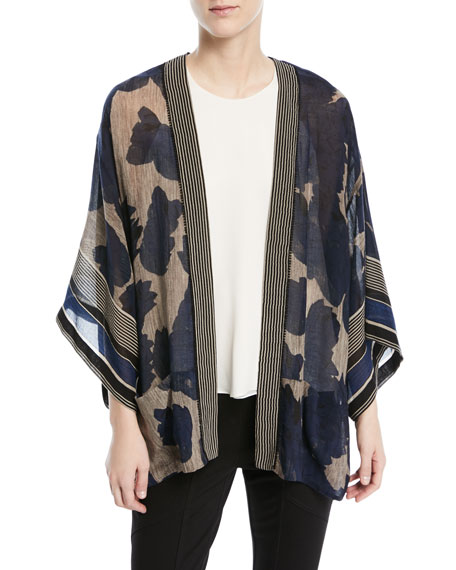Oversized Open-Front Kaftan Topper