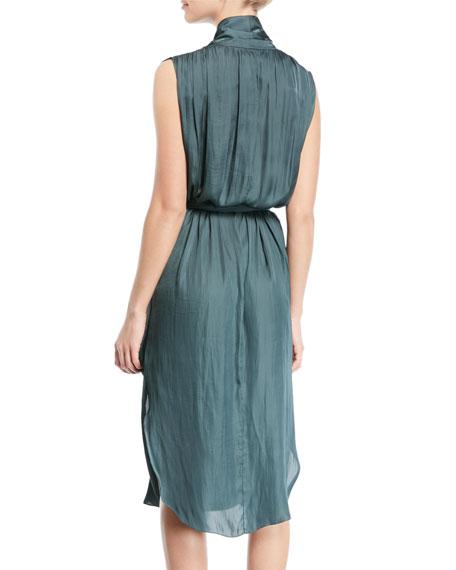 Self-Tie Shirt Dress w/ Pockets