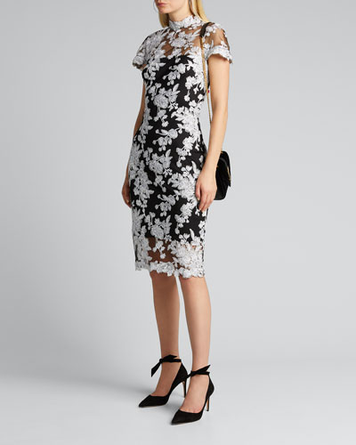 96d4eabca44 Lace Applique Cap-Sleeve Cocktail Dress Quick Look. Tadashi Shoji