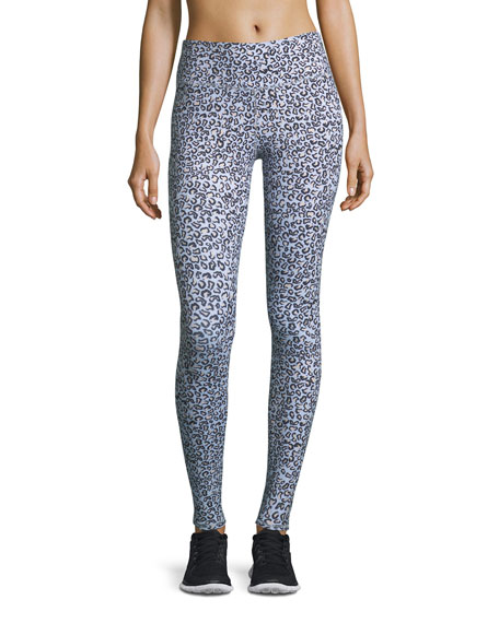 Varley  CYPRESS HIGH-WAIST FULL-LENGTH LEOPARD-PRINT TIGHTS
