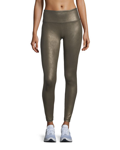 High-Waist Full-Length Coated Leggings