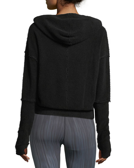 Warmth French-Terry Hoodie with Seam Details