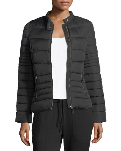 Chateau Zip-Front Quilted Puffer Jacket