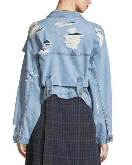 Polly Oversized Distressed Denim Jacket