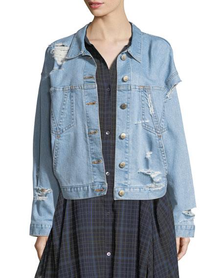 Polly Oversized Distressed Denim Jacket