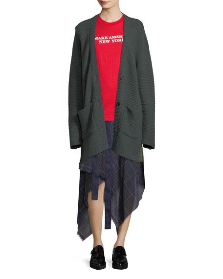 Danen Plaid Asymmetric Skirt