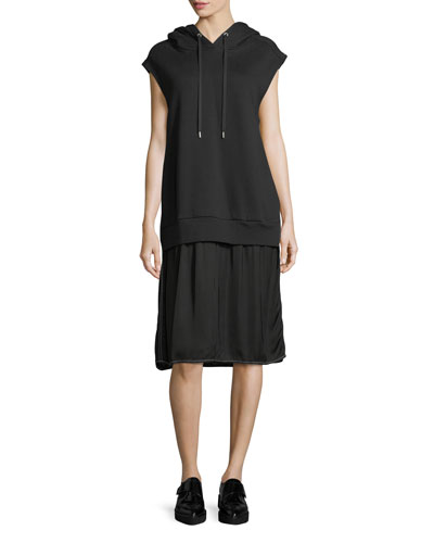 Allison Cap-Sleeve Hoodie Dress