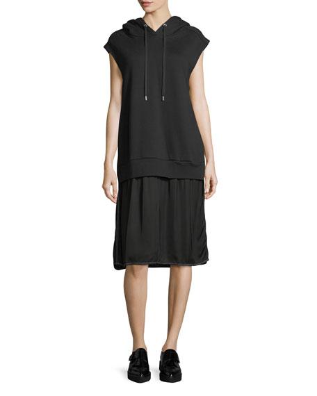 Allison Cap-Sleeve Hoodie Dress