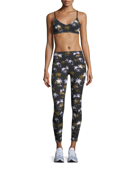 Acapulco Palm-Tree Print Ankle Leggings
