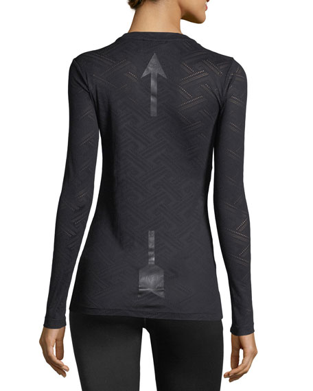 Armada Long-Sleeve Lace Performance Top