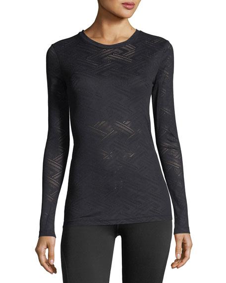 Armada Long-Sleeve Lace Performance Top