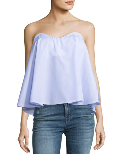 Coco Sweetheart-Neck Trapeze Blouse