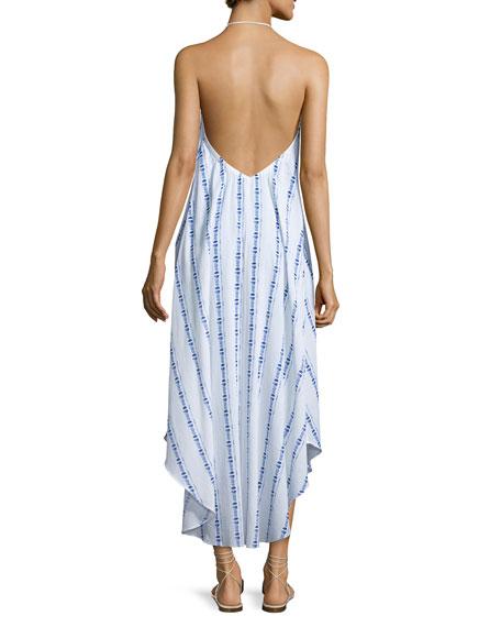 Folly Island Tassel-Tie Maxi Dress, White