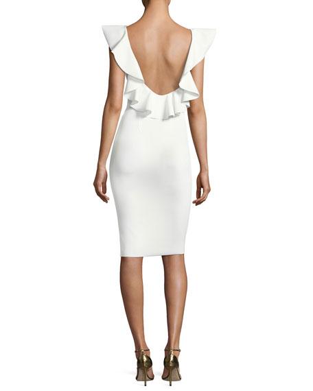Marika Sleeveless Ruffle Cocktail Dress