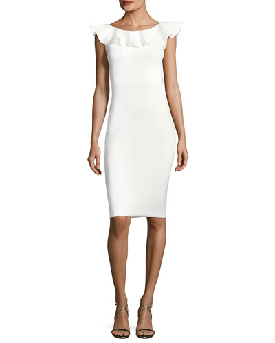 Marika Sleeveless Ruffle Cocktail Dress
