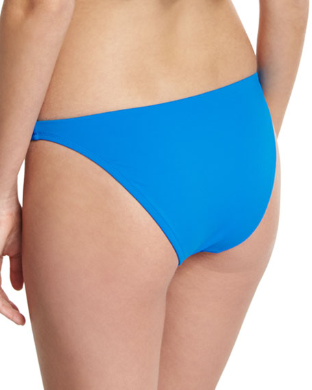 St. Lucia Italian Solid Swim Bikini Bottom, Blue