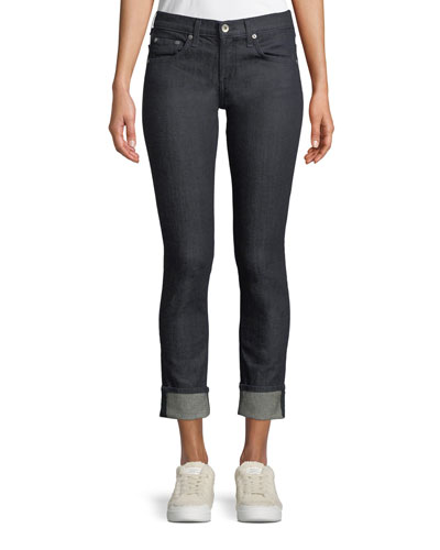 Dre Mid-Rise Slim-Fit Boyfriend Jeans