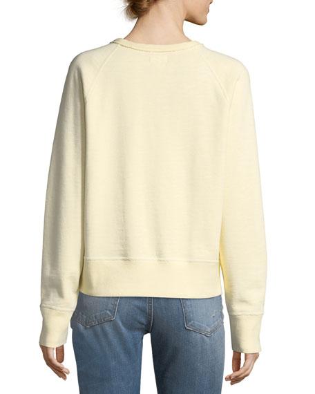 The Raglan Crewneck Cotton Sweatshirt