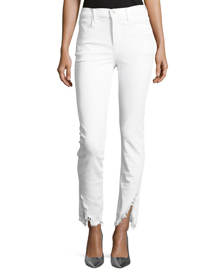 W3 High-Rise Higher-Ground Slash Slim Crop Jeans
