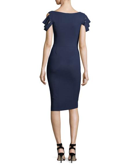 Stanica Florian Skirt Tiered Short-Sleeve Cocktail Dress