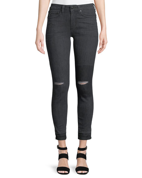 Devi Authentic Skinny Distressed Jeans
