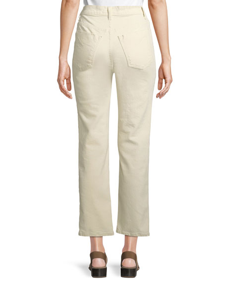 Leah High-Rise Straight Jeans