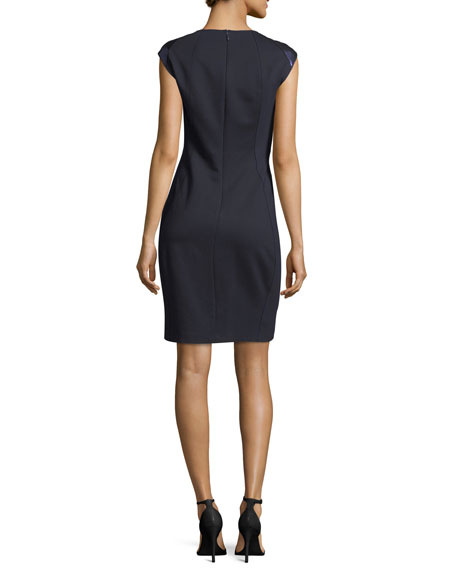 Aiden Square-Neck Short-Sleeve Dress