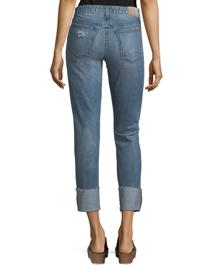 The Smith Distressed Straight-Leg Ankle Jeans