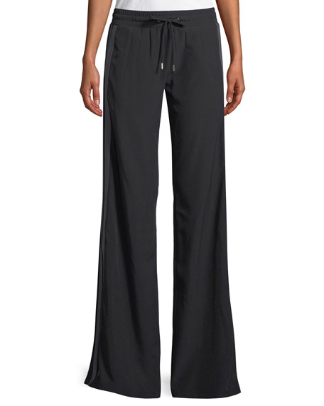 Image 1 of 1: Ilona Wide-Leg Pull-On Jogger Pants