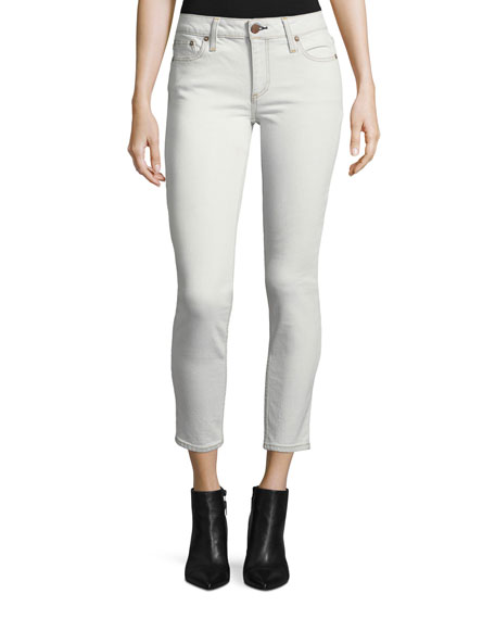 Low-Rise Skinny-Leg Ankle Jeans
