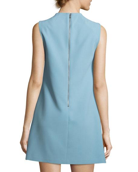 Coley Mock-Neck Sleeveless A-Line Mini Dress