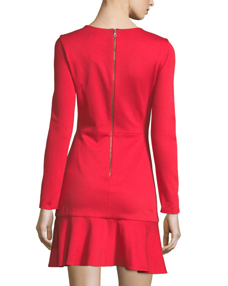 Francine V-Neck Fit-and-Flare Short Dress