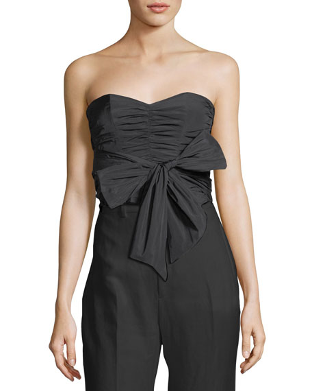 Taffeta Strapless Bow Top