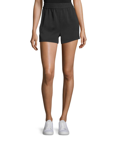Ludlow Smocked Track Shorts with Racer-Stripes