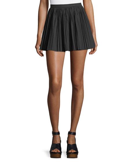 Micro-Pleat Poplin Skirt
