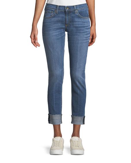 Dre Mid-Rise Slim-Fit Boyfriend-Style Jeans