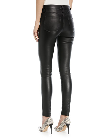 Barbara High-Rise Super-Skinny Leather Pants