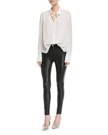 Barbara High-Rise Super-Skinny Leather Pants