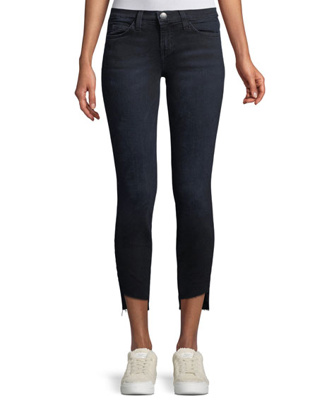 The Stiletto Skinny-Leg Jeans with Uneven Cut Hem