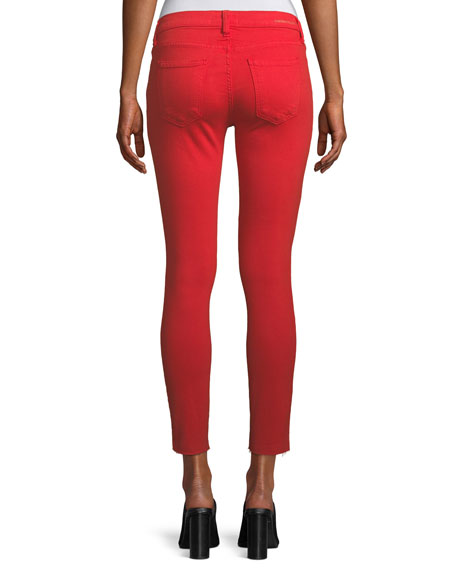 The Stiletto Skinny-Leg Jeans with Raw-Cut Hem