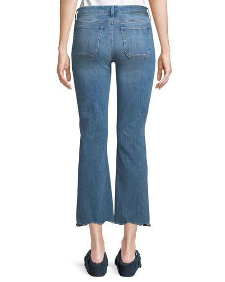Lou Button-Fly Flared-Leg Ankle Jeans