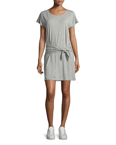 Alyra Self-Tie Mini Dress