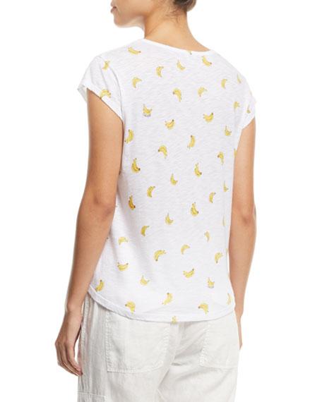 Neyo B Crewneck Banana-Print T-Shirt