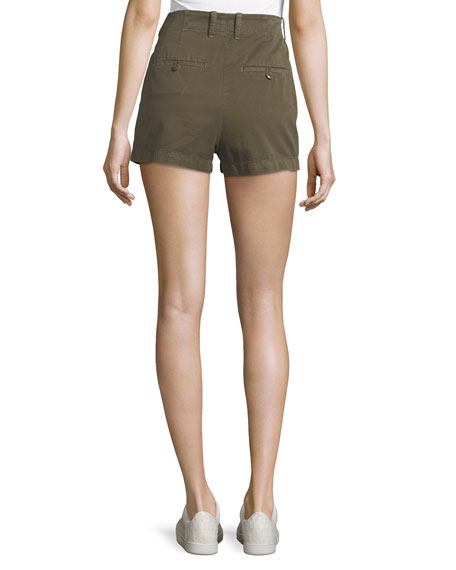 Brusha Mid-Rise Cotton Shorts