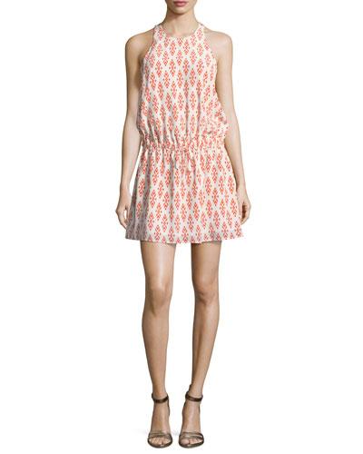 Diega Silk Self-Tie Mini Dress