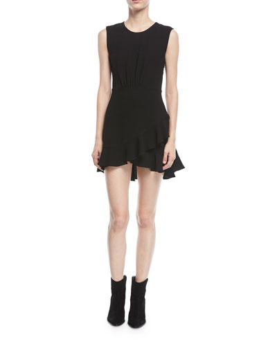 Arcas Sleeveless Fit-and-Flare Mini Dress