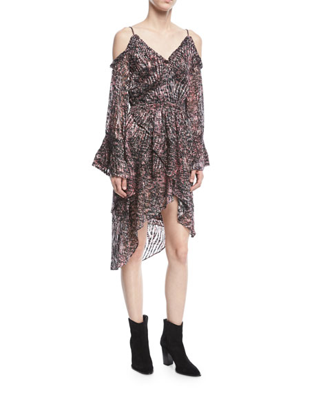 Eloma Printed Off-the-Shoulder Short Dress